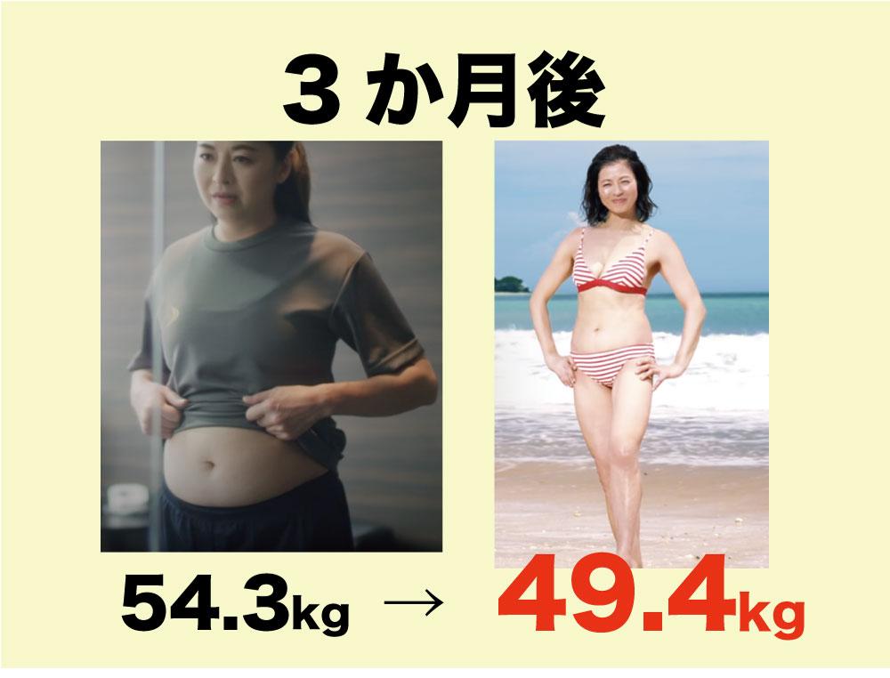 石田えりさん、ライザップで-4.9kg達成