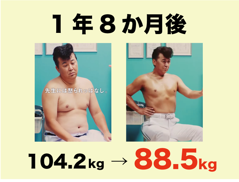 嶋大輔、ライザップで-15.7kg達成